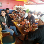 H. Bruce Coates Roofing Services, LLC Crew at Restaurant